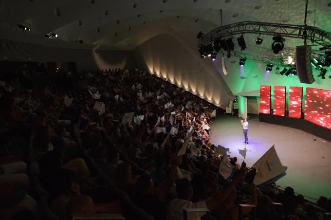 Actuación en el auditorio en la final de 2012