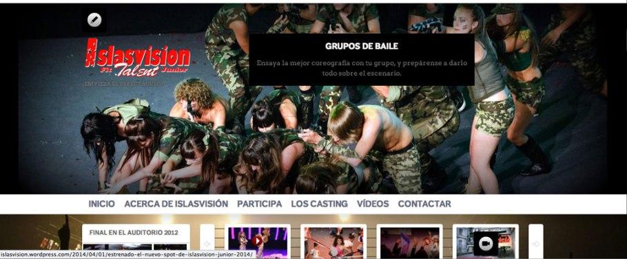 el diseño del nuevo sitio web de islasvisión