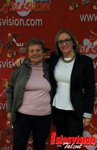 Momento photocall Marina y Rosi